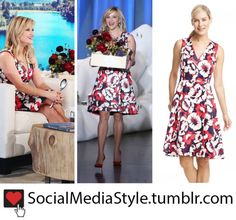 Buy Reese Witherspoon's Draper James Floral Print Dress from her Appearance on The Ellen Show, here!