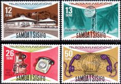 Samoa 1977 SG Telecommunications Project Set Fine Used SG 492 5 Scott 454 7 Other British Commonwealth Stamps Here