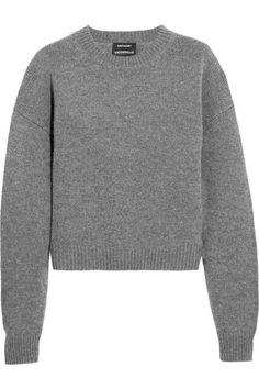 Dark-gray wool and cashmere-blend Slips on 70% wool, 30% cashmere Dry clean Made in Belgium