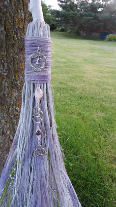 Lavender Wedding Broom Handfasting BesomWiccan by WayOfTheCauldron