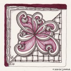 Challenge # 193 (Tangle Patterns: Trio, Huggins and Xyp; November 2014; 9 x 9 cm)