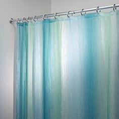 teal striped shower curtain. Indigo Blue  White And Teal Shower Curtains Fabric Curtain Zeno Aqua InterDesign Ombre Print Shower Curtain Beach Bathroom Pinterest