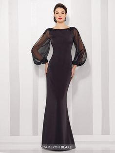 Cameron Blake 216680 is available. See why 216680 by Cameron Blake is the perfect gown. Authentic Cameron Blake by Mon Cheri dresses. Mob Dresses, Trendy Dresses, Bridal Dresses, Nice Dresses, Dresses With Sleeves, Chiffon Dresses, Vestidos Mob, Maxi Robes, Bride Gowns
