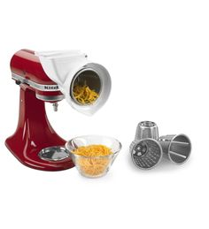 Use the power of your stand mixer to tackle a variety of food slicing shredding tasks. Quickly shred or slice cheeses vegetables with this KitchenAid RVSA Rotor Slicer Shredder Attachment. Kitchen Gadgets, Kitchen Appliances, Kitchen Aide, Small Appliances, Kitchen Stuff, Kitchen Tools, Kitchenaid Standmixer, Best Kitchenaid Mixer, Kitchen Aid Mixer Attachments