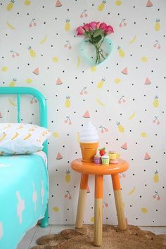 Delightful designer children's wallpaper from Jimmy Cricket - Babyology - http://centophobe.com/delightful-designer-childrens-wallpaper-from-jimmy-cricket-babyology/ -