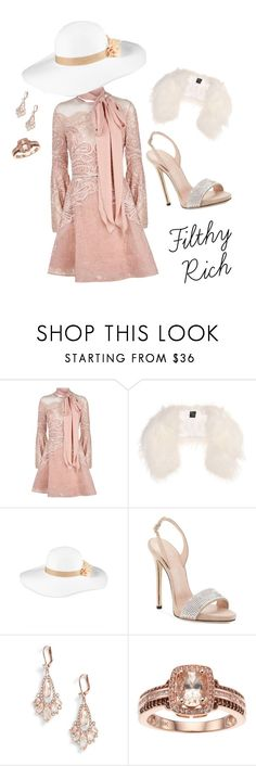 """Filthy Rich"" by leslielovie on Polyvore featuring Elie Saab, Mr & Mrs Italy, August Hat and Kate Spade"