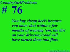 That's why I don't buy heels.