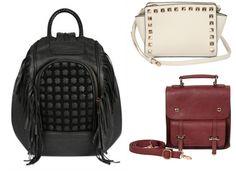 Coleção da fast fashion Riachuelo Inverno 2015, recheada de bolsas e mochilas com spikes e com preços acessíveis!