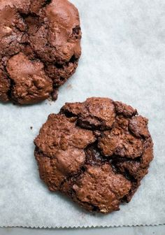 Chocolate Chocolate-Chip Cookies - a double dose of rich, dark chocolate!