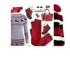 """""""Sweater Weather"""" by ragnh-mjos ❤ liked on Polyvore featuring Alice + Olivia, Laulhere, Comptoir Des Cotonniers, SOREL, Bloomingdale's and Stephen Webster"""