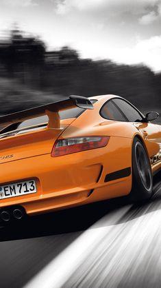 Orange car Porsche 911 GT3