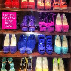 Kim Kardashian's shoe closet.  I have died.