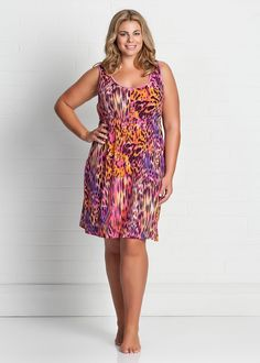 Fashion Plus Size - Large Size Womens Clothes, Tops & Dresses | Fashionable Plus Size Clothes - PANTHER NIGHTIE - Virtu