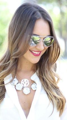 Chic round bar sunglasses with mirrored lenses and metal frames