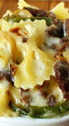 Philly Cheese-Steak Mac & Cheese