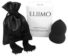 The Perfecting Finish Sponge comes with a luxurious black satin bag, perfect for traveling!