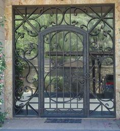 Glass and Iron Front Door - contemporary - front doors - calarchitecturaltraditions.com