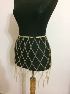 Chain skirt gold chain skirt  body chain  body  by MukoShop