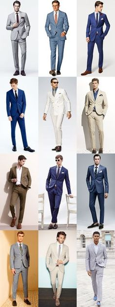 Men's Summer Wedding Outfit Inspiration - Two-Piece Suits Lookbook