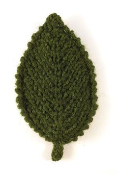 photo of knitted elm leaf