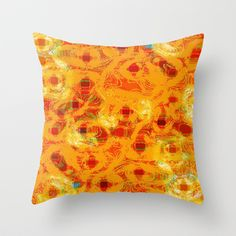 Abstract Summer Throw Pillow by Peaky40 - $20.00