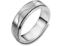 Mens Wave Wedding Rings & Surf Wave Rings ~ Gilletts Jewellers