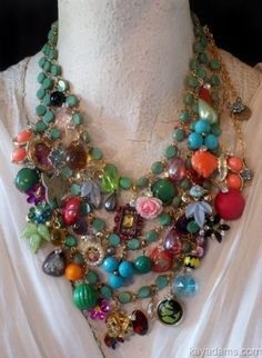 LOVE! Chunky necklace by Kay Adams - wonder if I could make my own version?
