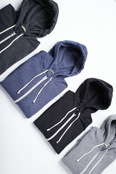 Alternative Rocky Eco-Fleece Zip Hoodies