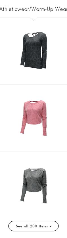 """""""Athleticwear/Warm-Up Wear"""" by gymholic ❤ liked on Polyvore featuring tops, sport, sport top, long sleeve sports top, long sleeve camisole, flip top, long sleeve cami, red crop tops, red top and sports shirts"""