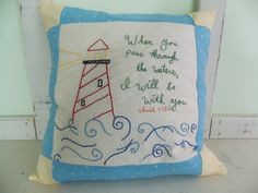 Items similar to Custom Hand Embroidered Pillow Case on Etsy Pillow Forms, Pillow Inserts, Embroidered Pillows, Big Pillows, Baby Embroidery, Feather Pillows, Cotton Sheets, Vintage Cotton, Custom Pillows