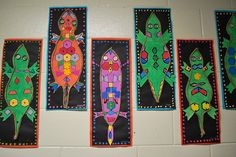 Aboriginal Lizards Australian Art Lesson