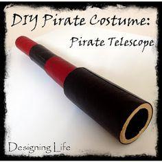 Designing Life: DIY Pirate Costume: Pirate Telescope