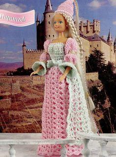 Rapunzel Barbie Doll Outfit Crochet Pattern Leaflet -30 Days To Shop & Pay!