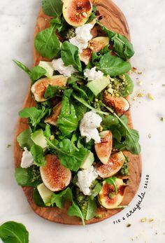 Fig and Arugula Salad with Pistachio Pesto | @loveandlemons