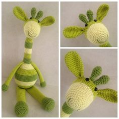 Lente giraffe Giraffe Crochet, Crochet Animals, Crochet Toys, Knit Crochet, Knitting Toys, Amigurumi Tutorial, Amigurumi Toys, Easy Crochet Patterns, Dinosaur Stuffed Animal