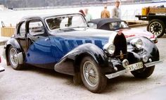 Bugatti Type 57SC Atalante (1936–38). With its streamlined styling, low-slung chassis and supercharged engine, the Type 57SC Atalante is one of the most desirable Bugattis. It was personally designed by Jean Bugatti as a two-seater sports coupe and became the rarest of the four different body styles offered by Carrosorie Bugatti. Read more at http://www.supercars.net/cars/265.html https://en.wikipedia.org/wiki/Bugatti_Type_57
