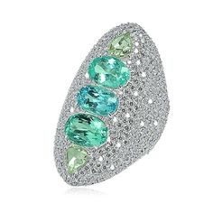 Sutra multi-coloured Paraiba tourmaline ring in white gold with diamonds | Saved for Future Outfits in Gabrielle's Amazing Fantasy Closet