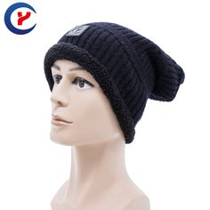 2017 New arrival Knit Women Winter skullies and beanies hemming grey black color winter Warm Wool Knitted Hats DS20170107 x7