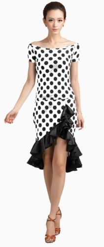 SGC15PD Latin Rhythm Salsa Swing Line Square Country Dance Dress Top Skirt Set | eBay
