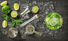 Cocktail drink making tools by LiliGraphie on @creativemarket