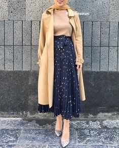 43 Super ideas for fashion hijab style classy Islamic Fashion, Muslim Fashion, Modest Fashion, Skirt Fashion, Fashion Outfits, Casual Hijab Outfit, Hijab Chic, Hijab Dress, Casual Outfits