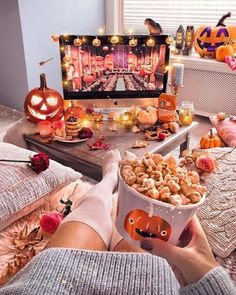 Get the best Halloween Party decor ideas here. From Halloween Outdoor decor to Porch to Lights to Bedroom, Bathroom, Living room decor for Halloween ideas. Halloween Movie Night, Halloween Tags, Halloween Season, Costume Halloween, Halloween Pumpkins, Fall Halloween, Halloween Decorations, Halloween Room Decor, Couple Halloween