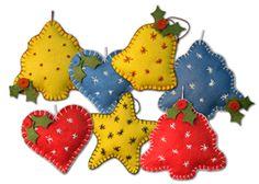 Lumenaris | Products | Felt | Ornaments | Old-Fashioned Christmas Ornaments