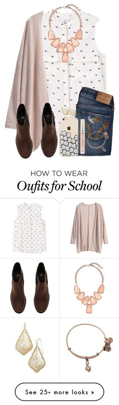 """""""No School Today So I've Just Been Laying & Doing Nothing All Day"""" by twaayy on Polyvore featuring MANGO, Kendra Scott, Hollister Co., H&M, Alex and Ani and Stila"""