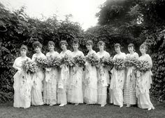 Girls finishing Belcourt school 1918