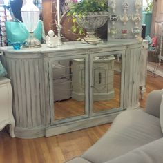 Elegant Etched Mirror Buffet/Server/ Media Console by TessHome on Etsy