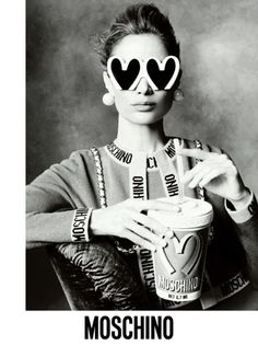 Moschino fall 2014: For his first Moschino campaign, Jeremy Scott pulled out the big guns — Steven Meisel captured supermodels Linda Evangelista, Carolyn Murphy, Karen Elson, Raquel Zimmermann, Stella Tennant and Saskia de Brauw in Scott's junk culture-inspired looks from the fall collection.
