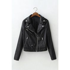 Yoins Leather Biker Jacket with Buckle Detail ($57) ❤ liked on Polyvore featuring outerwear, jackets, black, leather biker jacket, biker jacket, motorcycle jacket, real leather jackets and moto jacket