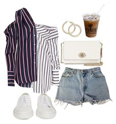"""""""Untitled #5313"""" by lilaclynn ❤ liked on Polyvore featuring Levi's, Monse, Coach, Common Projects and coach"""