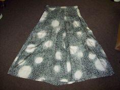 Vintage 50s 60s Black & White Polka Dot Print Full Skirt / Rockabilly Mod Pin Up Girl / Sz M-L / VLV Viva Las Vegas Scooter Gal